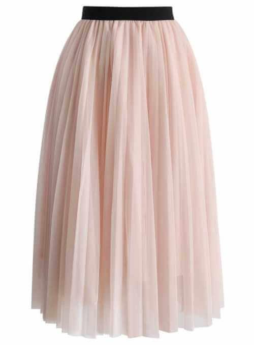 """Padavá pudrovo ružová tylová sukňa """"marshmellow"""""""