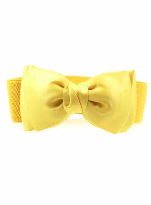 Rozkošný opasok s veľkou mašľou – žltý
