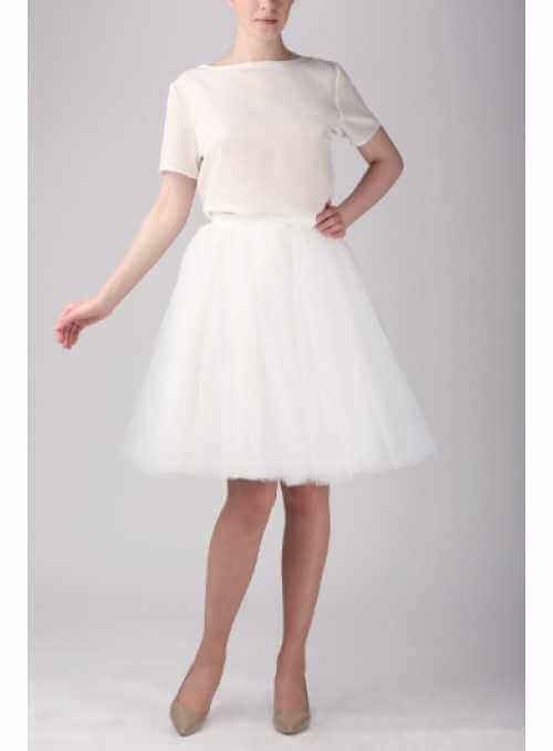 Tylová sukňa baletná biela 57 cm