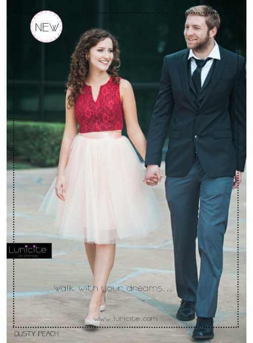 Lunicite PUDROVÝ TULIPÁN – exkluzívna tylová sukňa pudrová