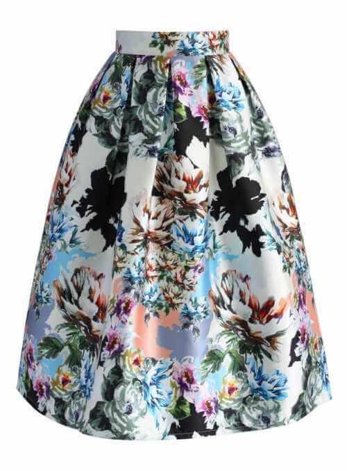 """Midi sukňa ,,Spev kvetov"""""""