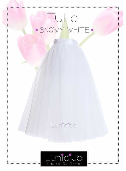 Lunicite WHITE TULIP – exclusive tulle skirt cream white