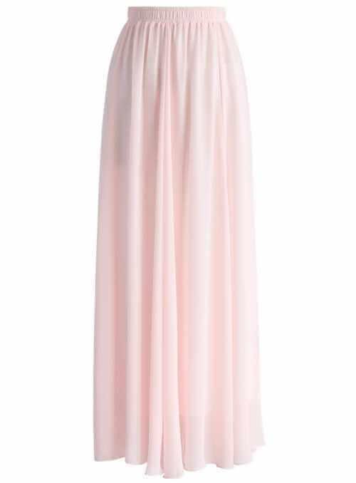 """Maxi sukňa """"Ružový púder"""""""