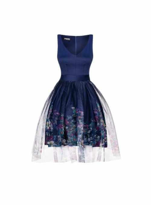 """Šaty """"Modrá záhrada"""""""