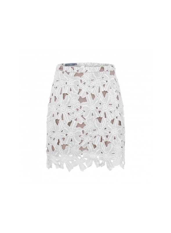 """Luxusná dámska sukňa s kvetovou čipkou """"Liliana"""""""