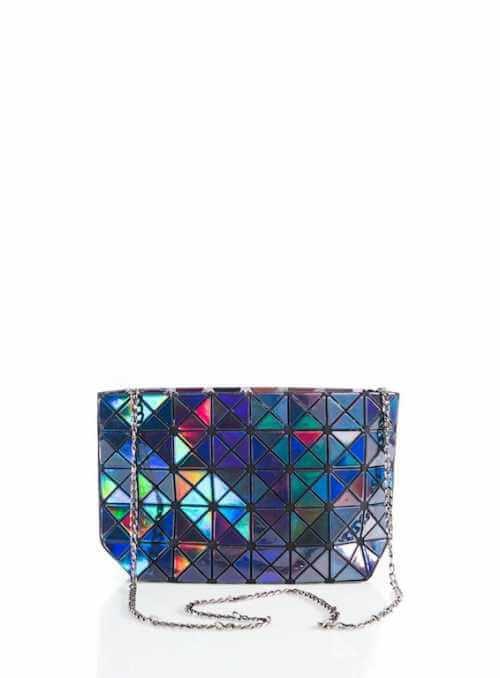 28x17x8 Tmavo modrá lesklá STAR – Mini kabelka