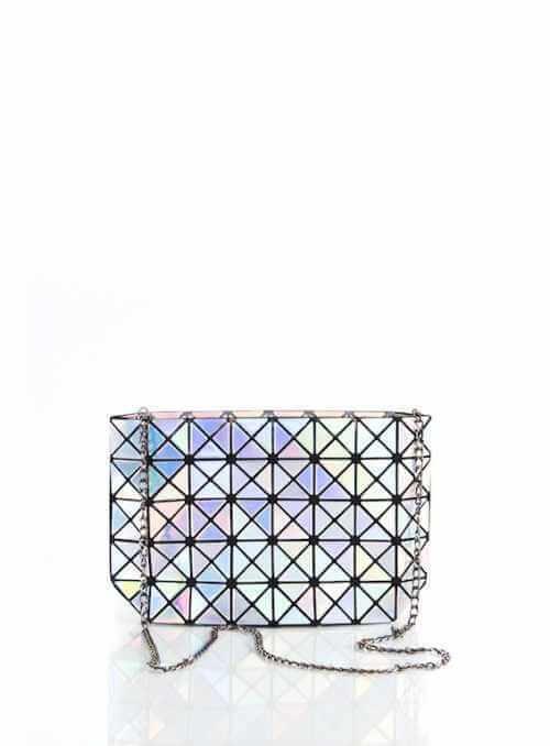 28x17x8 Strieborná lesklá STAR – Mini kabelka