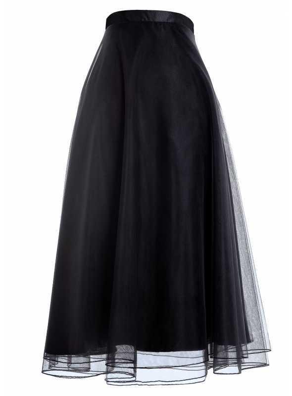 Lunicite ČERNICA - padavá šifónová sukňa