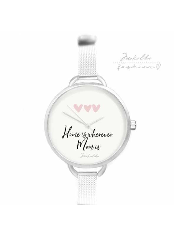 """Hodinky """"HOME LOVE"""" – dámske jednoduché hodinky s citátom"""