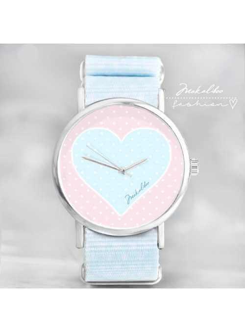 """Hodinky """"LOVE HEART DOTS"""" – dámske hodinky pastelových farieb"""
