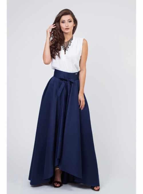 """Maxi sukňa """"modrá s mašľou"""""""