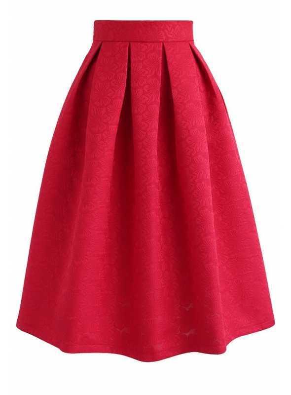 Balónová sukňa s makovými kvetmi