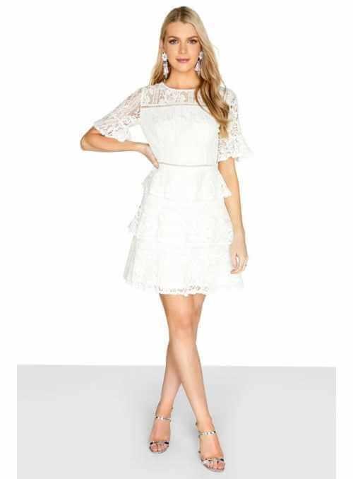 """Mini šaty """"Volániková romantika"""""""