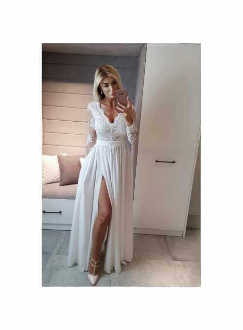 """Maxi šaty """"White swan"""""""
