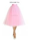 Lunicite RUŽOVÝ TULIPÁN – exkluzívna tylová sukňa bledo ružová, 77cm