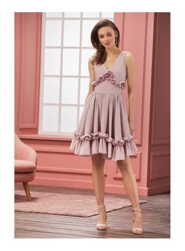 """Šaty """"CHANTELLE"""" - dámske ružové šaty"""