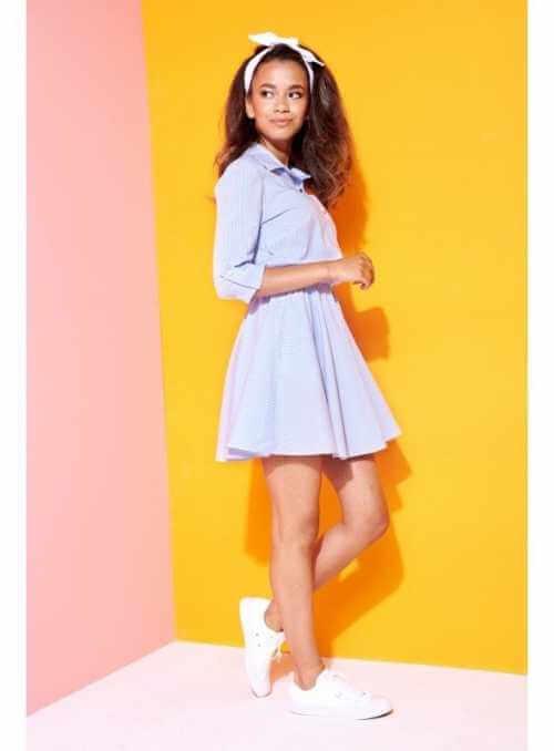 """Košeľové šaty """"BLUE FAIRY""""- dámske krátke šaty"""