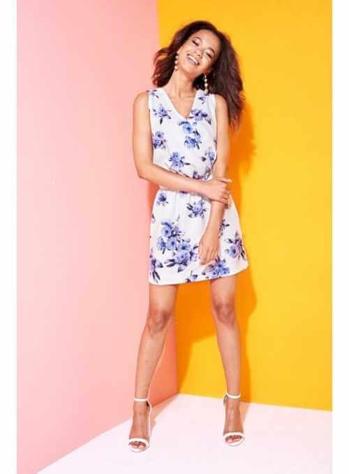 """Šaty """"BLUE FLOWERS""""- dámske šaty s kvetinovou potlačou"""