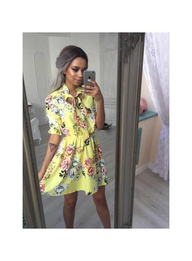 """ef1487254cfb dámske žlté šaty """"SUNNY DAY"""" - Dadoo"""