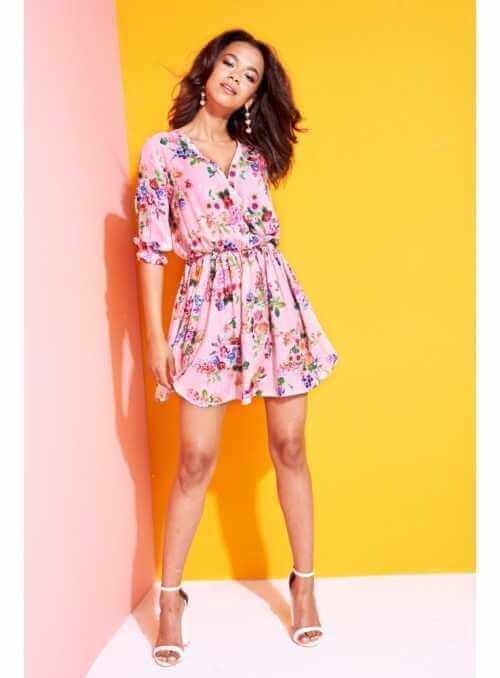 "dámske mini šaty ""PINK FLOWER"""