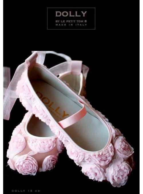 DOLLY ballerina 15GB roses satin pink
