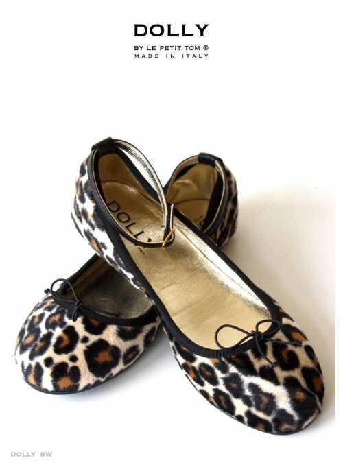 DOLLY by Le Petit Tom ® Dámske balerínky 8W 'Leopard'