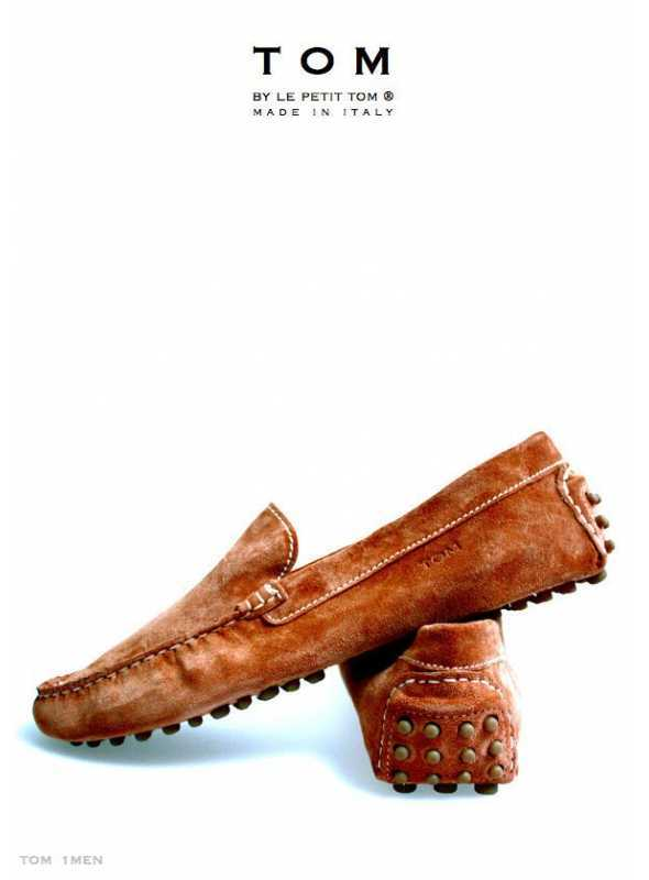 TOM by Le Petit Tom ® MENS MOCCASINS BROWN Suede + leather lining