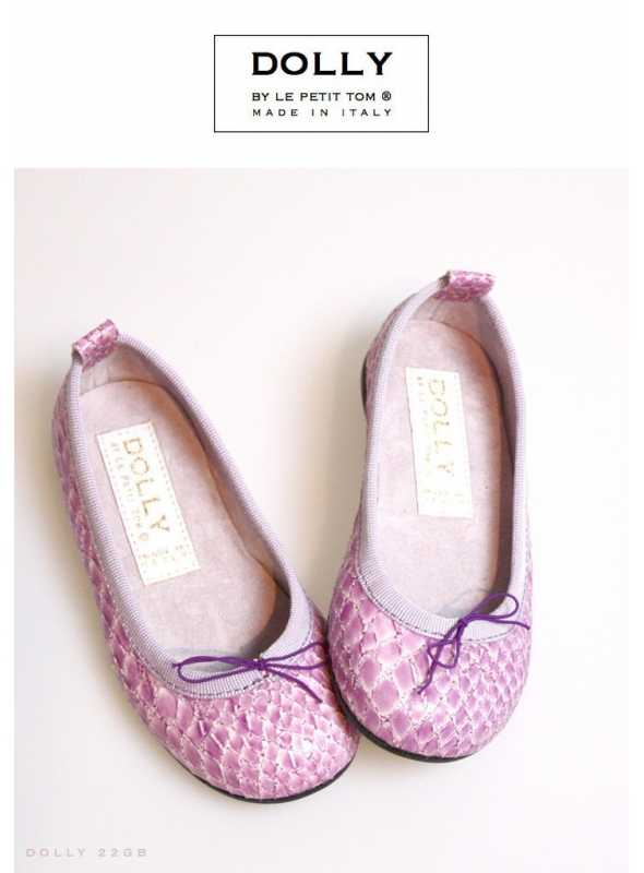DOLLY by Le Petit Tom ® CLASSIC BALLERINA'S 22GB SNAKE PATTERN LAVENDER
