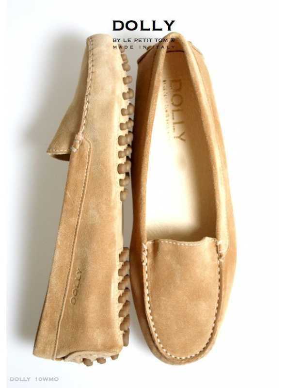 DOLLY by Le Petit Tom ® WOMEN MOCCASINS 10WMO CAPPUCCINO suede