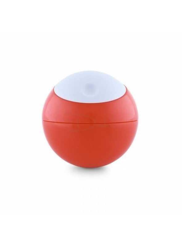 SNACK BALL – loptička na uskladnenie potravín, farba bielo červená