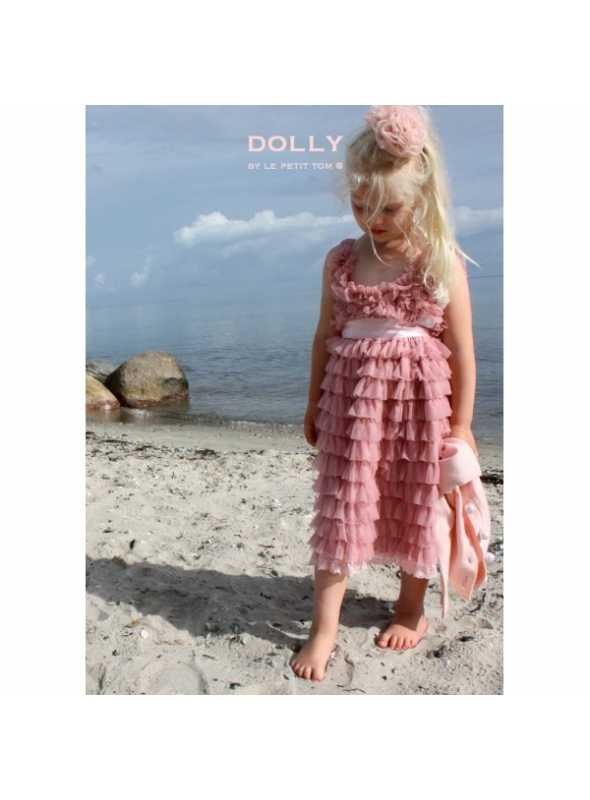 TOTALLY RUFFLED DRESS dusty pink