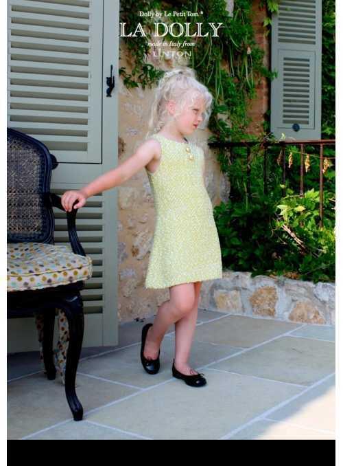 LA DOLLY SUNSHINE šaty z LINTON TVÍDU – zlato/žlté