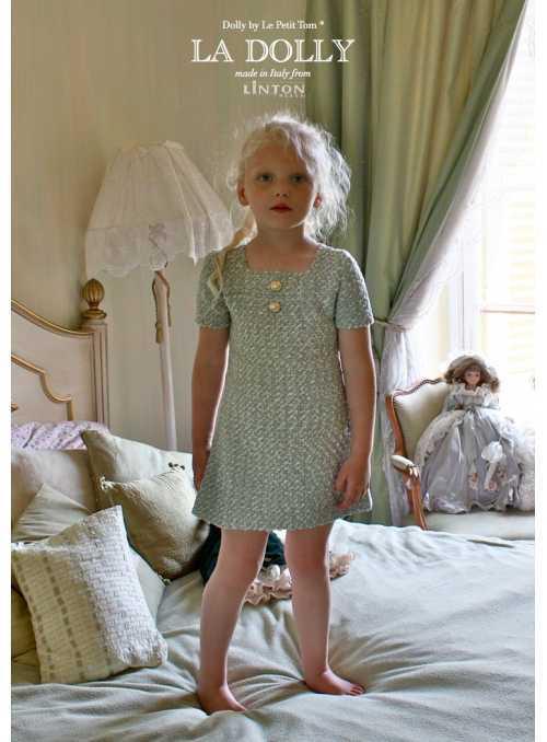 LA DOLLY TRBLIETAVÉ šaty z LINTON TVÍDU – tyrkysové