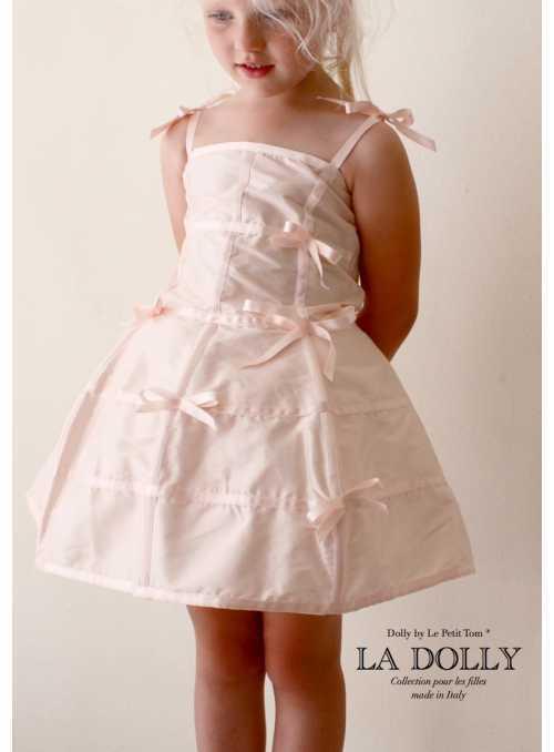 """LA DOLLY """"šaty MANEKÝNA"""" –bledoružové"""