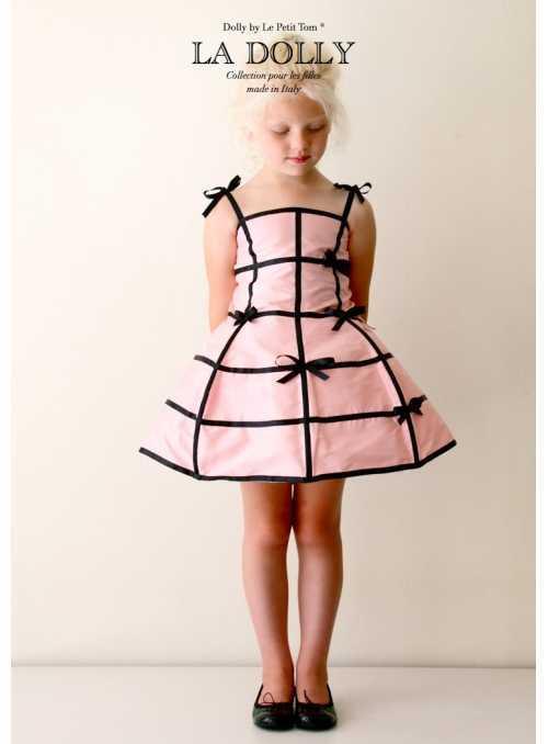 """LA DOLLY """"šaty MANEKÝNA"""" –ružovo-čierne"""