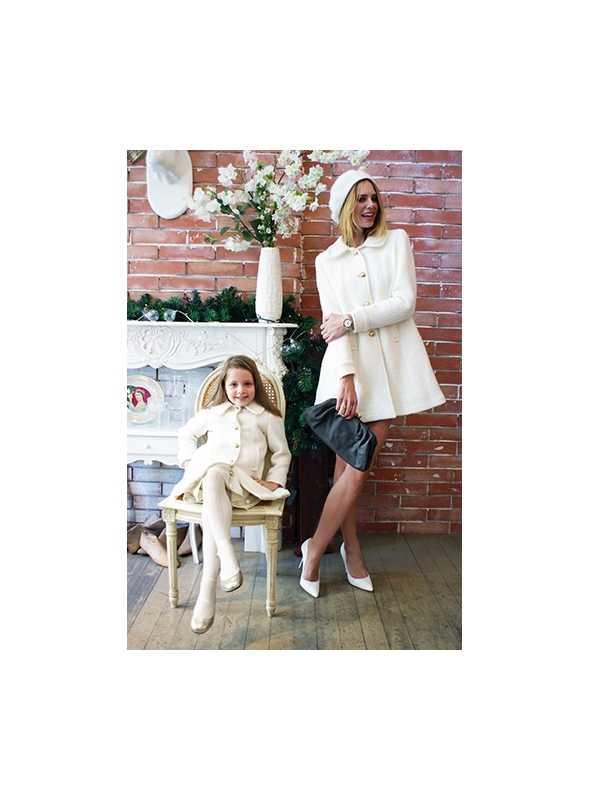 """LA DOLLY vlnený """"bábikovský kabát"""" - biely"""
