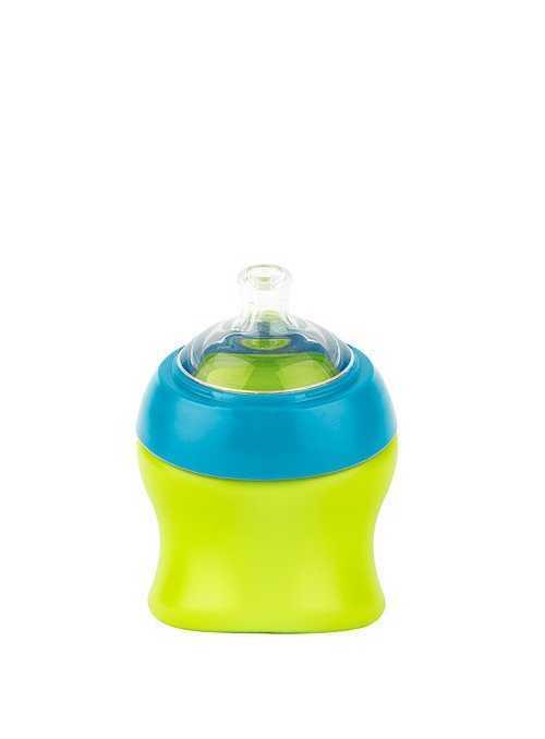 SWIG -  malá fľaška/pohár modro zelený