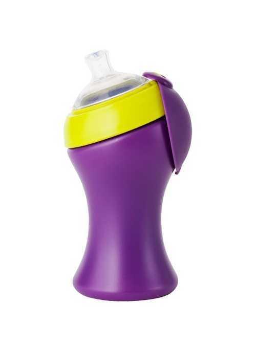 SWIG - veľká fľaška/pohár fialovo zelený