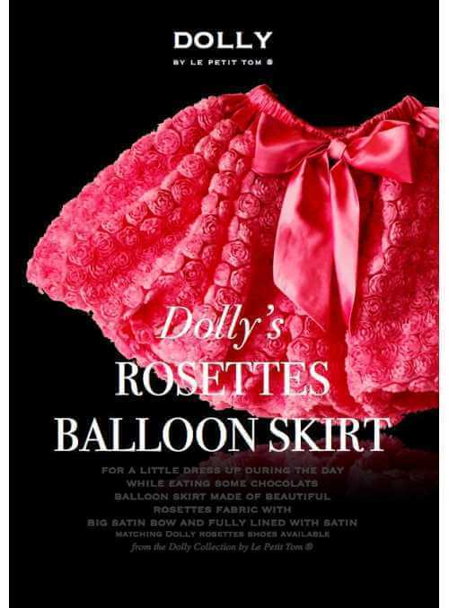ROSETTE BALLOON SKIRT WITH BIG BOW fuchsia