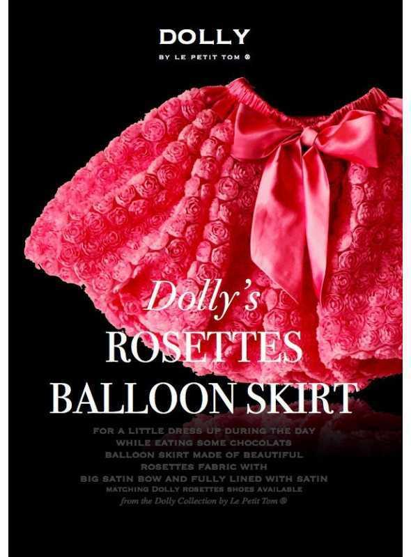 ROSETTE BALLOON SKIRT WITH BIG BOW fuchsia