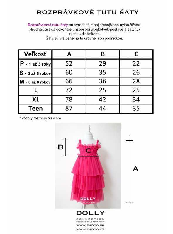 Rozprávkové tutu šaty
