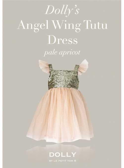DOLLY šaty Anjelske krídla, marhuľové