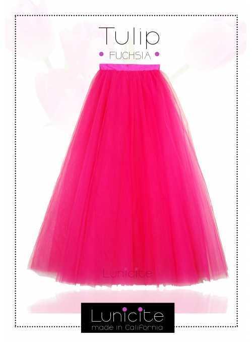 Lunicite FUCHSIOVÝ TULIPÁN – exkluzívna tylová sukňa fuchsia