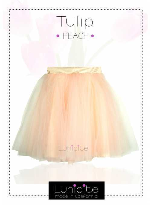 Lunicite PEACH TULIP – exclusive tulle skirt peach