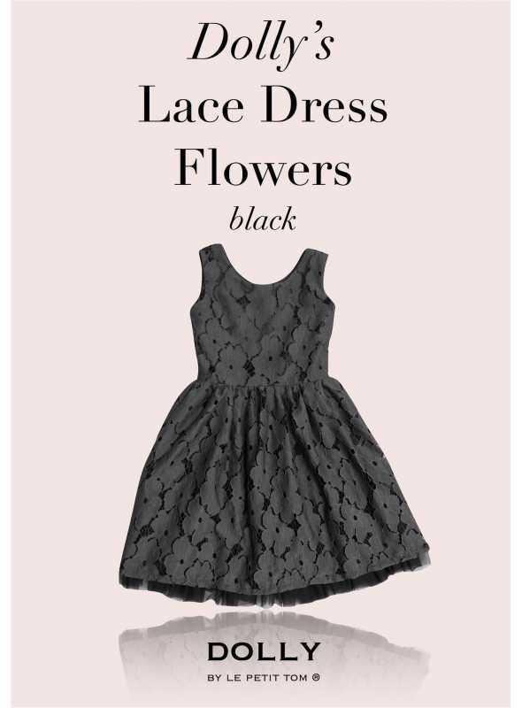 DOLLY čipkové kvetové šaty – čierne