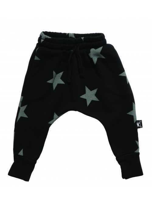 Detské pudlové nohavice – hviezdičky, čierne