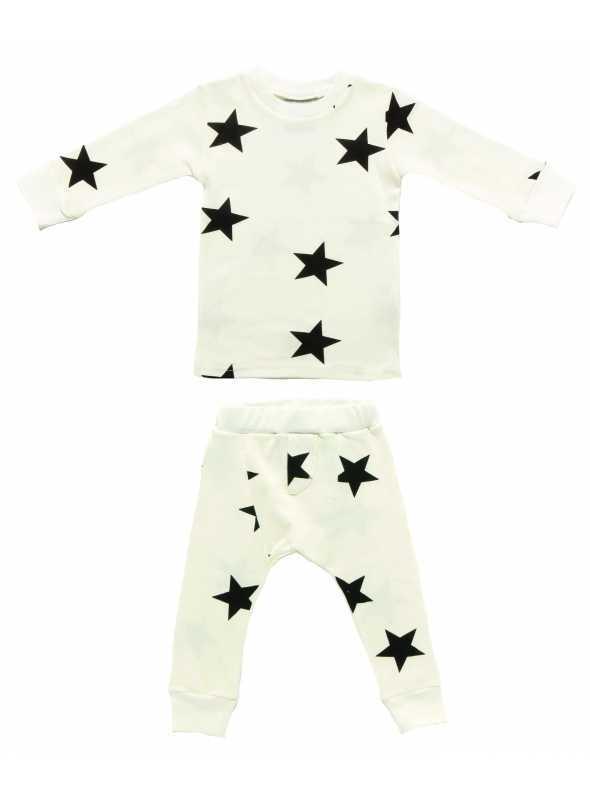 Pyžamo s hviezdičkami, biele