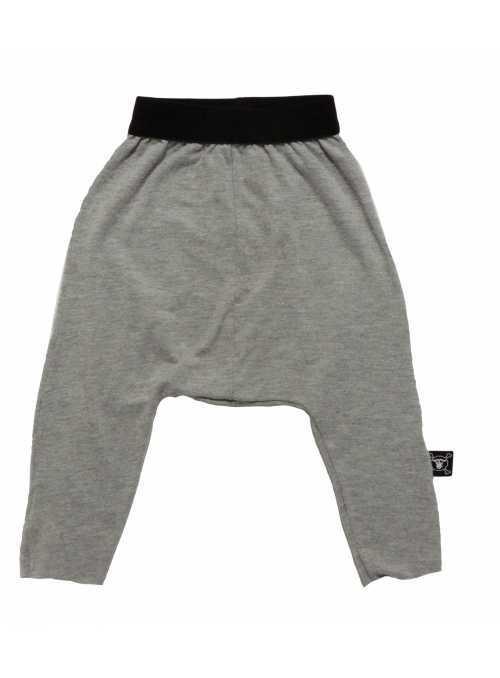 Detské pudlové nohavice padavé, šedé