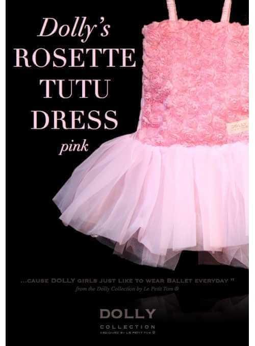 ROSETTE TUTU DRESS pink