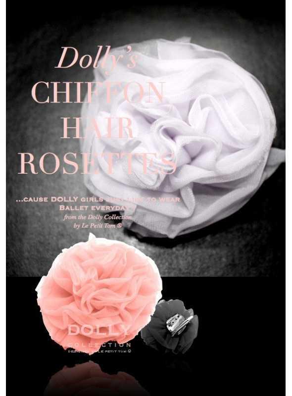 CHIFFON HAIR ROSETTE pink